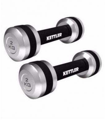 Kettler Chrome Dumbells 2kg x 2 inshapedirect